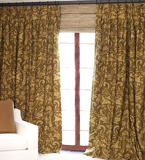 THE | OUTLET - Custom Linen Drapery in Venice Brown