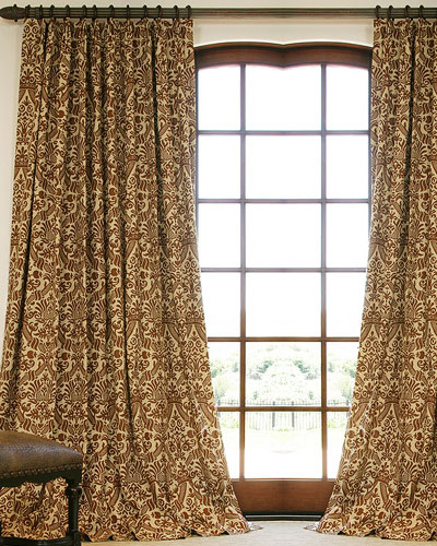 Classic Patterned Linen Custom Drapery